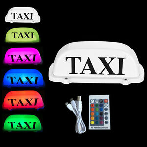 Taxi Roof Sign Magnetic Top Sign 6 Led Lights Economy Remote Control Colorful Fa