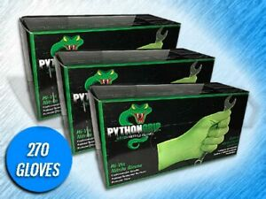 270 Python Grip 6 Mil Heavy Duty Green Raised Textured Nitrile Gloves xl