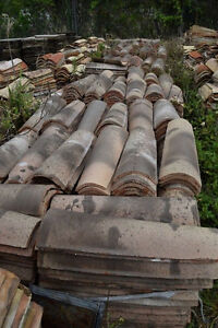 Large Lot Of Mission canal Roof Tile 2 000 Reclaimed Castelnaudary French Roman