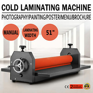 Manual Cold Laminator Laminating Machine 51 Inch Us