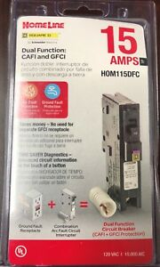 Square D Homeline Hom115dfc Dual Function Afci gfci Breaker 15a New In Package