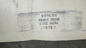 Lot Of 6 Midwesco Fw6847 1631hd Sock Bag Dust Collector Filter 140 x9