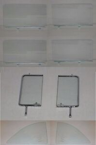 Vent Doors Quarter Glasses With Channels In Clear 55 57 Chevy Pontiac 4 Dr Sedan
