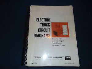 Clark Forklift Electric Truck Circuit Diagrams Book Manual