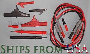 Small Large Alligator Clips Probe Tips 40 Cables Fluke Other Multimeters