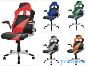 Heavy Duty High back Computer Desk Vintage Gaming Reclining Task Office Chair