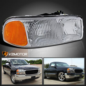 For 1999 2006 Gmc Sierra 1500 2500hd 2000 2006 Yukon Passenger Side Headlight R