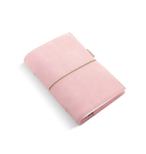 Filofax Personal Domino Soft Pale Pink Leather Look Organiser