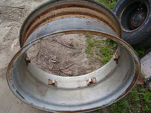 Vintage Ford 6000 Tractor 16 X 34 Rear Wheel X 2 Nice 1964