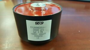 Tpc Fpg86n0205j 2uf 5 2000v Gto Film Capacitor Screw Type