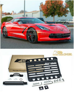 Eos For 14 19 Corvette C7 Stingray Front Bumper Tow Hook License Plate Bracket