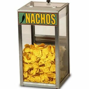 Countertop Popcorn Nacho Peanut Heated Display Cabinet Merchandiser Warmer