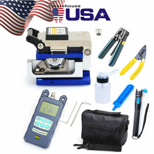 18pc Fiber Optic Ftth Tool Kit W fc 6s Cleaver Optical Power Meter Visual Finder