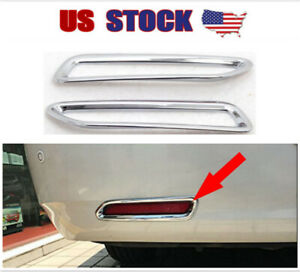 Fits 2011 2019 Toyota Sienna Chrome Plated Rear Bumper Fog Lamp Light Cover Trim