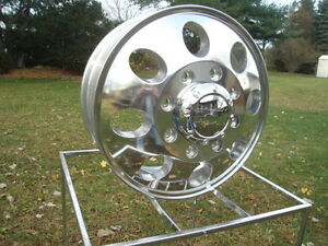 4 16x6 Ford Chevy Dodge 16 Dually Polished Rims 167 Ion 2 Front Rear Lugs