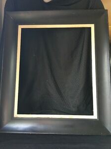 Vintage Antique Wooden Frame Wide Black