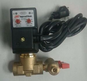 Ingersoll Rand 54410931 Auto Drain Valve 115v 1 2 In 1 4 Out 1 0 Gpm