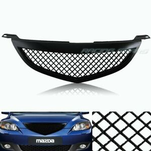 For Mazda 3 Mazda3 Sedan 4dr Black Mesh Style Abs Front Hood Bumper Grille Grill