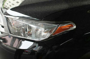 Chrome Front Head Light Lamp Cover Trim For Toyota Highlander Suv 2011 2012 2013
