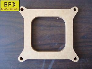 Carb Spacer 1 2 Thick 4 Barrel Square Bore Pattern Open Fiber Laminate Wood