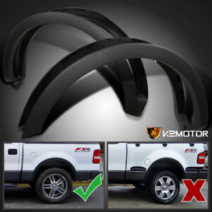2004 2008 Ford F150 Styleside Factory Style Wheel Covers Fender Flares Black