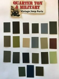 Jeep Willys Military Gillespie Coatings Paint Chips