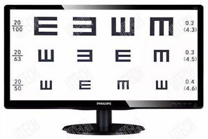 19 Tft Led Liquid Crystal Visual Acuity Chart Projector Computer Eye Chart