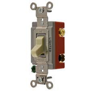 Hubbell Lighted Toggle 3 Way Switch Hbl1223il 5 Pack