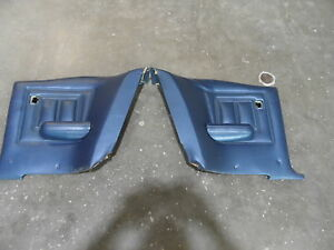 1969 1970 Mercury Cougar Xr7 Rear Seat Side Panels Trim Blue Pair Coupe 69 70