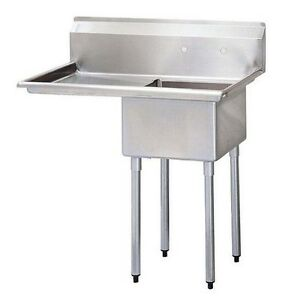 California Cooking 1 Compartment Commercial Kitchen Sink With Left Drainboard
