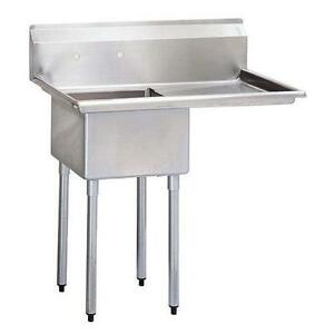 California Cooking 1 Compartment Commercial Kitchen Sink With Right Drainboard