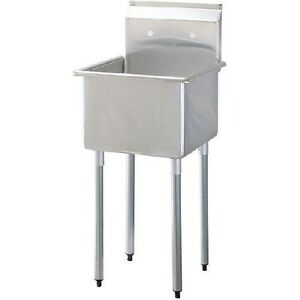 California Cooking 1 Compartment Commercial Kitchen Prep Or Utility Sink