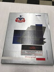 Auto Body Wet Sandpaper 9x11 2000 Grit 50 Sheets Waterproof Fast