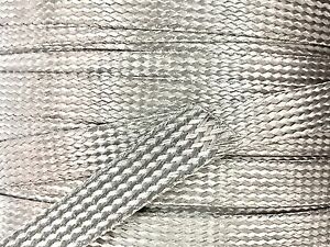 75 Feet 1 2 Braided Braid Stainless Expandable Sleeve Wire Harness Loom