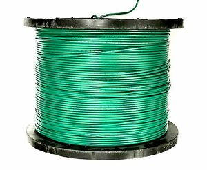 300 Ft Mtw Machine Tool Primary 10 Awg Gauge Green Copper Stranded Ground Wire