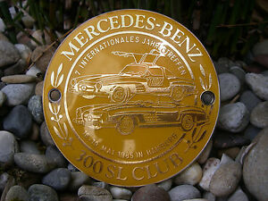 Vintage German Mercedes Benz 300 Sl Gullwing W198 Meeting Hamburg 1985 Car Badge