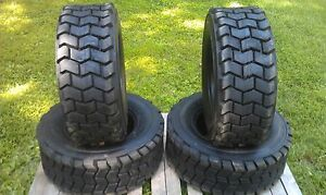 4 New 12 16 5 Skid Steer Tires 14 Ply Rating 12x16 5 heavy Duty Non Directional