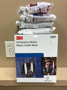 Real 3m 6800 Mask New Full Face Respirator Medium Made And Ship From Usa