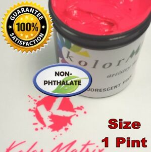 Super Opaque Fluorescent Pink Plastisol Screenprint Ink Non Phthalate Pint