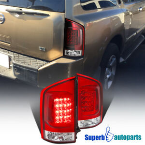 For 2005 2015 Nissan Armada Led Rear Brake Lamps Tail Lights Pair Replacement