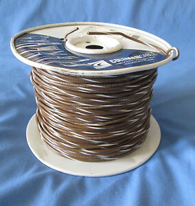 18 Gauge Mtw tew Stranded Copper Wire Tan White Stripe Partial Roll 400 450