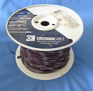 18 Gauge Mtw tew Stranded Copper Wire Purple White Stripe Partial Roll 400 450