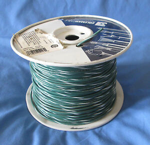 18 Gauge Mtw tew Stranded Copper Wire Green white Stripe Partial Roll 400 450