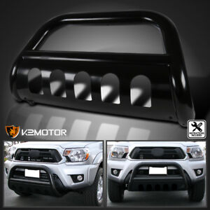 2006 2008 Dodge Ram 1500 Pickup S S Black Steel Bull Bar Bumper Grille Guard
