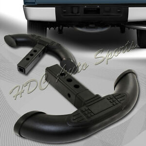 Black Steel Rear Trailer Towing Tail Gate Hatch Cover Step Bar 1 25 2 Receiver