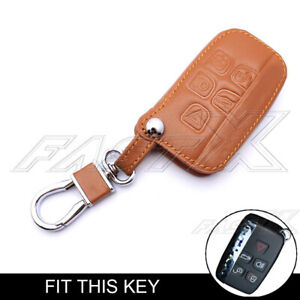 Leather Case Shell Cover For Land Range Rover Sport Evoque Lr4 Smart Remote Key