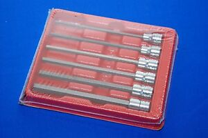 Snap On 6 Piece 3 8 Dr Sae Extra Long Hex Bit Socket Set 206efal New Shipsfree