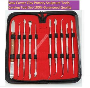 German Stainless Steel Wax Carving Tool Set Surgical Dental Instrument Kit a