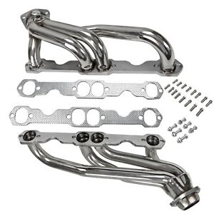 Stainless Steel Headers Truck W Gaskets Fits Chevy Gmc 88 97 5 0l 305 350 V8