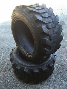 2 New 27x10 50 15 Skid Steer Tires 27x10 5 15 8 Ply for Bobcat Case And More